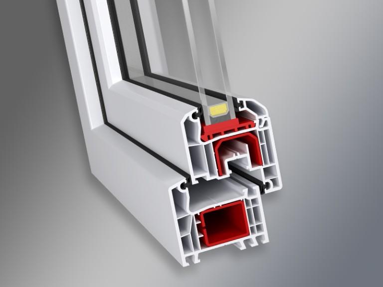 przekrój okna systemu okiennego IDEAL 4000
